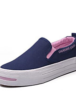 Women's Loafers & Slip-Ons Comfort Canvas Spring Casual Blue Black White Flat