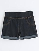 Unisex Solid Color Shorts-Cotton Summer