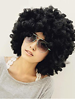 Big hair Synthetic Hair Afro Holiday Explosive Head Black Short Curly Wigs