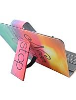 Étui d'ipad avec clavier usb version anglaise 7-8 pouces universel / phrase couleur dégradé pu étui en cuir pour ipad mini123 mini4
