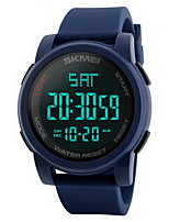Masculino Relógio Esportivo Relógio de Pulso Relogio digital Chinês DigitalLCD Calendário Impermeável Dois Fusos Horários alarme