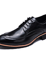 Men's Oxfords Comfort Bullock shoes Microfibre Leather Spring Summer Office & Career Party & Evening Casual Low Heel Brown Black White