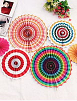 Paper Flowers Single Paper Flowers Fan Manual Fan Wedding Decoration Hanging Fan