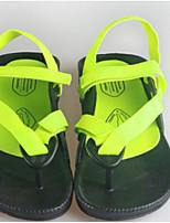 Dames Sandalen Comfortabel PU Lente Casual Zwart Groen Plat