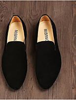 Men's Loafers & Slip-Ons Comfort Suede Spring Casual Comfort Black Navy Blue Screen Color Flat