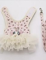 Chien Robe Vêtements pour Chien Décontracté / Quotidien Britannique Jaune Bleu Rose