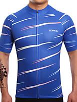 חולצת ג'רסי לרכיבה לגברים שרוול קצר אופניים ג'רזי ייבוש מהיר נושם תומך זיעה LYCRA® Coolmax קלאסי קיץ