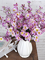 1 Branch Plastic Plum Tabletop Flower Artificial Flowers