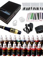 Solong Tattoo Augenbraue Kit dauerhafte Make-up Maschine Tattoo 23 Tinte Nadel ek709-6