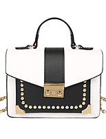 Women Tote PU All Seasons Formal Casual Event/Party Wedding Office & Career Sling Bag Clasp Lock Brown Black White
