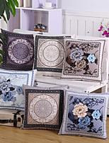 6 Design Classic Velveteen Flowers Pillow Cover Vintage Pillow Case