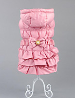 Dog Clothes/Jumpsuit Dog Clothes Casual/Daily Keep Warm British Khaki Blushing Pink