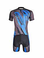 Maillot de Ciclismo con Shorts Hombre Manga Corta Bicicleta Sets de PrendasCiclismo Secado rápido Resistente a los UV Compresión
