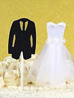 2pcs / set את הכלה ואת החתן עוגה טופר אישית עוגת חתונה קישוט יום הולדת קינוח קישוט החתונה