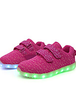Girls' Sneakers Light Up Shoes Tulle Spring Fall Casual Outdoor Flat Heel  Pink Green Ruby Gray Black Walking Shoes