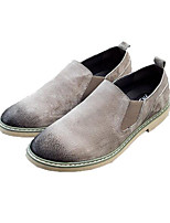 Men's Sneakers Suede Pigskin Spring Black Gray Coffee Flat
