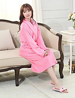 Bath TowelPattern High Quality 100% Coral Fleece Towel Women's Bathrobes
