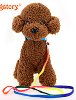 Rainbow Nylon Pet Traction Rope Dog Harness Cat Dog Collars Pet Christmas Accessories Supplies