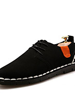Men's Sneakers Comfort Suede Spring Casual Black Gray Brown Flat