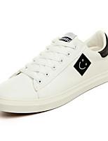 Da uomo Sneakers Comoda PU (Poliuretano) Primavera Casual Bianco Nero Bianco e verde Piatto