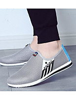 Men's Sneakers Comfort Breathable Mesh Tulle Spring Casual Gray Navy Blue Blue Flat