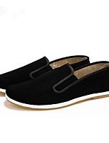 Для мужчин Мокасины и Свитер Удобная обувь Светодиодные подошвы Ткань Весна Осень Повседневные Для прогулокУдобная обувь Светодиодные