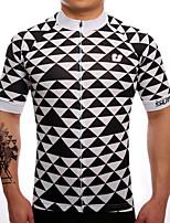 Camisa para Ciclismo Homens Manga Curta Moto Camisa/Roupas Para Esporte Secagem Rápida Respirável Redutor de Suor Coolmax LYCRA® Clássico
