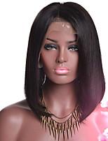 Cabelo humano bob wigs glueless perucas de rosto cheio para mulheres negras 150% densidade natural cabelo linha reta