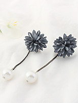 Women's Drop Earrings Imitation Pearl Euramerican Fashion Alloy Flower Jewelry For Daily 1 Pair