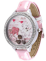 Women's Fashion Watch Quartz Leather Band Pink Yellow