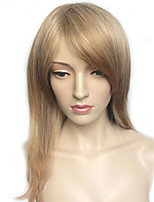 Capless Natural Curly Synthetic Wig Long Blonde Women Wig