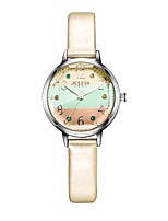Women's Fashion Watch Bracelet Watch Japanese Quartz Water Resistant / Water Proof Leather Band Sparkle Dot White Blue Orange Grey Pink