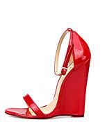Femme Chaussures à Talons Escarpin Basique Polyuréthane Printemps Automne Soirée & Evénement Escarpin Basique Talon Compensé Noir Rouge12