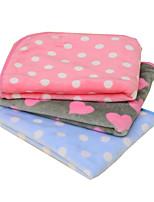 Кошка Собака Кровати Животные Одеяла Однотонный Горошек Сохраняет тепло Складной Мягкий Лиловый Синий Розовый