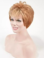 Blonde Capless Wig Short Fashion Hair for American and European Ladies Synthetic Wig Heat Resistant