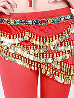 Belly Dance Hip Scarves Women's Performance Polyester Rhinestones Sequin 1 Piece Belt
