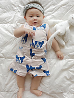 Baby Infants And Young Children Cotton Fashion cartoon pattern Bear Short-Sleeved Clothing Jumpsuit Climb Clothes