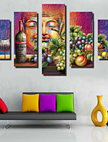 Art Print Asian,Five Panels Horizontal Print Wall Decor For Home Decoration