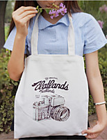 Women Shoulder Bag Canvas All Seasons Casual Shopper Zipper Black White