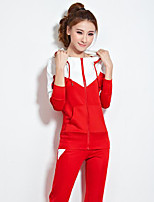 Women's Casual/Daily Sports Holiday Sexy Vintage Street chic Hoodie Pant Suits,Solid Round Neck Long Sleeve Micro-elastic