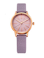 Women's Fashion Watch Quartz Water Resistant / Water Proof Leather Band Casual Black Blue Brown Green Gold Purple