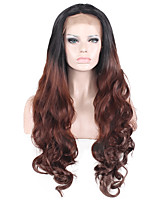 Black Mix Dark Brown Lace Front Natural Wigs for Women Costume Wigs Cosplay Synthetic Wigs