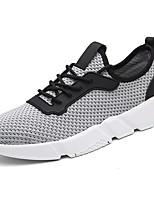 Для мужчин Спортивная обувь Удобная обувь Полиуретан Весна Осень Для прогулок Шнуровка На плоской подошве Черный Серый КрасныйМенее 2,5