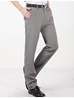U&Shark Men's Light Gray Checks Pattern Casual Business Pants Trousers /xxk-005