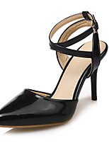 Women's Heels Leatherette Summer Fall Stiletto Heel Gold Black Sliver Blushing Pink 3in-3 3/4in