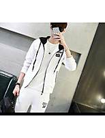 Men's Casual/Daily Hoodie Solid Hooded Micro-elastic Cotton Long Sleeve Spring