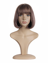 Short and Straight  Bobo Light Purple color Head Sweet Synthetic Wig