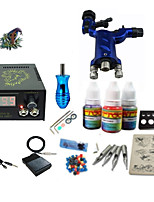 Beginner Tattoo Kit 1 Rotary Machine 3 Inks Sets Power Supply Needles G1C15R5