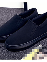 Women's Loafers & Slip-Ons Comfort Canvas Spring Casual Comfort Blue Black White Flat