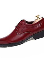 Для мужчин Туфли на шнуровке Классический и неустаревающий Мода Полиуретан Все сезоны Свадьба Вечерние ПовседневныеКлассический и